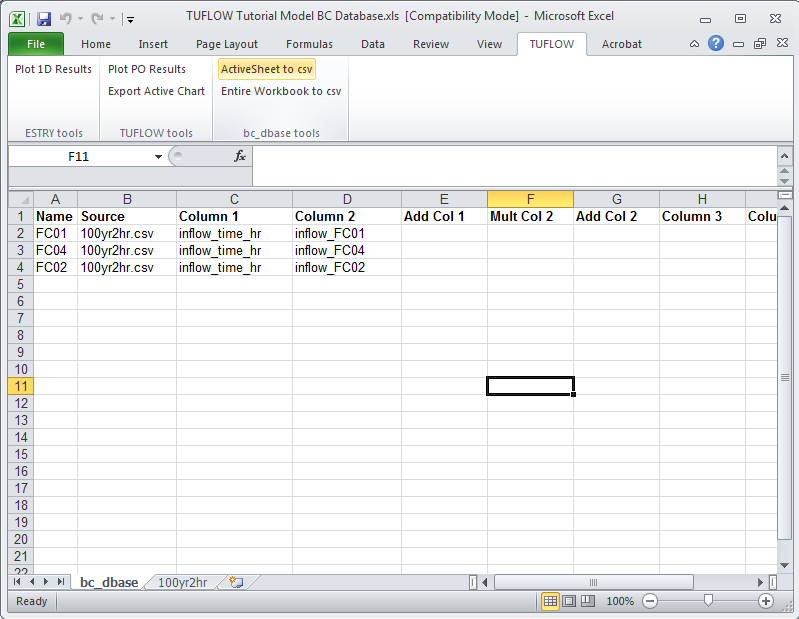 EXCEL Tools Active Sheet to CSV - Tuflow