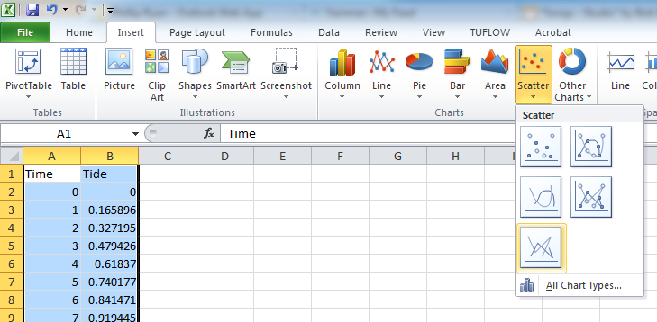 how to insert a break in excel graph